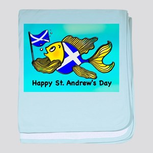 Happy St. Andrews Day baby blanket