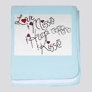 Love & Misses & Hugs & Kisses baby blanket
