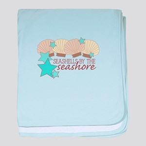 Seashells By The Seashore baby blanket