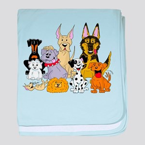 Cartoon Dog Pack baby blanket
