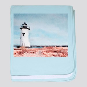 Edgartown Lighthouse baby blanket