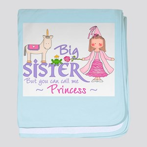 Unicorn Princess Big Sister baby blanket