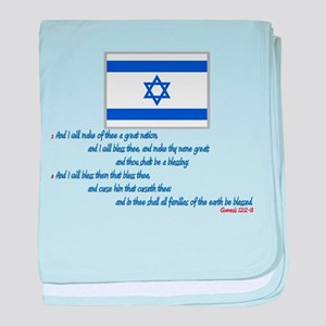 Gen 12: 2-3 Israel Flag - Infant Blanket