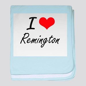 I Love Remington baby blanket
