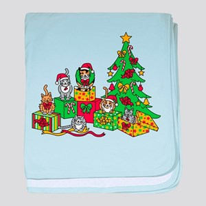 Christmas Cats baby blanket