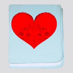 "All in Vein ""Love is Suicide"" baby blanket"