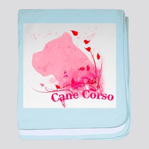 Cane Corso Pink baby blanket