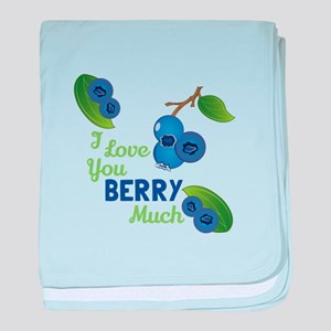 Love You Berry Much baby blanket