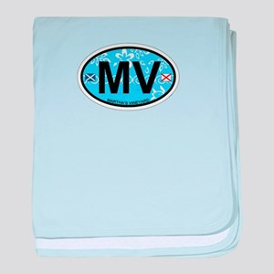 Martha's Vineyard MA - Oval Design. baby blanket