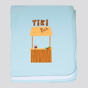 Tiki Bar baby blanket