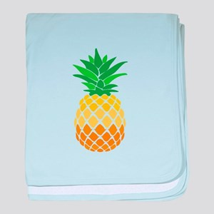 Pineapple baby blanket