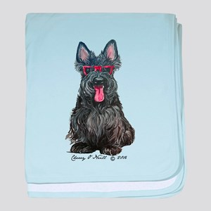 Summer Scottie baby blanket