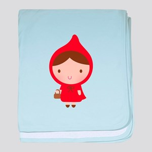 Cute Little Red Riding Hood Girl baby blanket