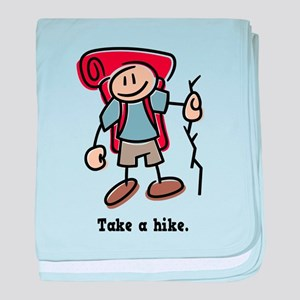 Cute Take a Hike baby blanket