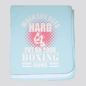 Cool Kickboxing and Boxing Saying Pro baby blanket