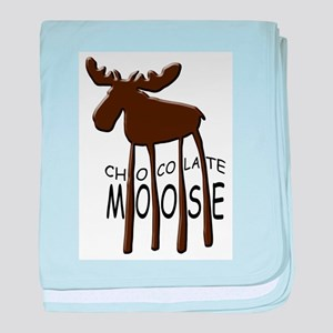 Chocolate Moose baby blanket