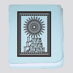 Color Me Live Love Laugh baby blanket
