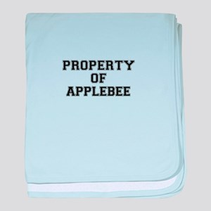 Property of APPLEBEE baby blanket