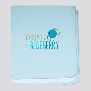 Respect the Blueberry baby blanket