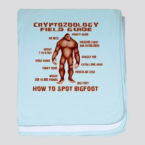 How to Spot Bigfoot - Field Guide baby blanket