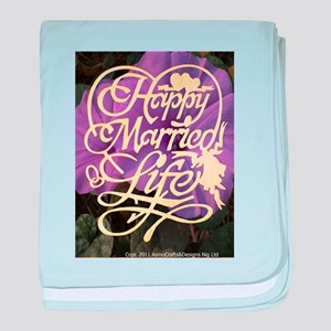 HAPPY MARRIED LIFE baby blanket