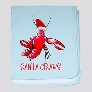 Santa Craws - Crawdad Christmas baby blanket
