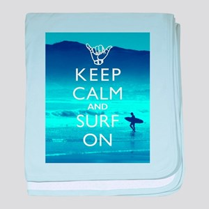 Keep Calm And Surf On baby blanket