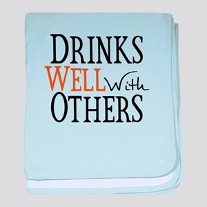 Drinks Well With Others baby blanket