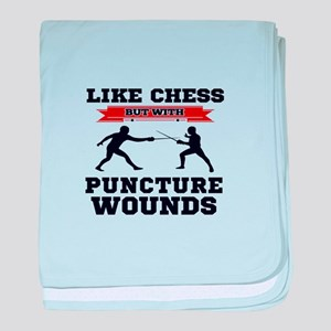 Like Chess But Without Puncture Wound baby blanket