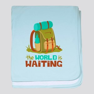 The World is Waiting baby blanket