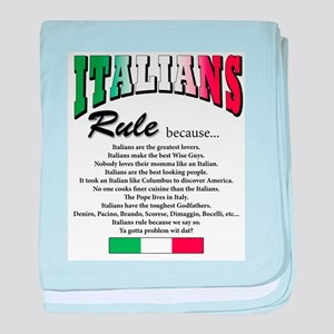 Italians Rules Infant Blanket