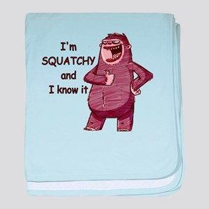 Squatchy & I Know It baby blanket