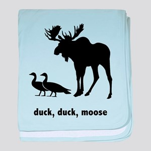 Duck Duck Moose baby blanket
