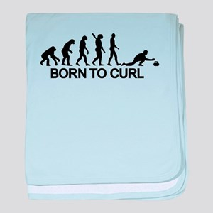 Evolution born to curling baby blanket