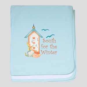 SOUTH FOR THE WINTER baby blanket