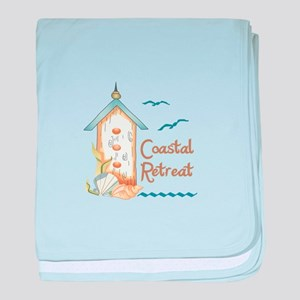 COASTAL RETREAT BIRDHOUSE baby blanket
