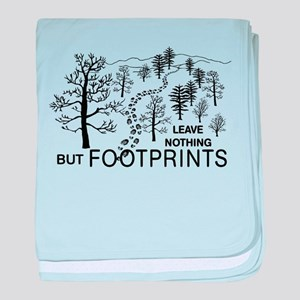 Leave Nothing but Footprints baby blanket