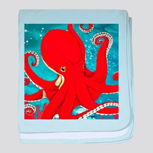 Octopus Painting baby blanket