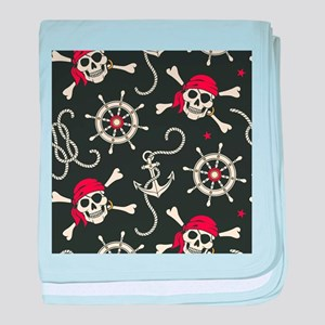 Pirate Skulls baby blanket