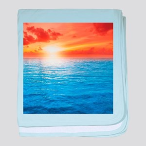 Ocean Sunset baby blanket