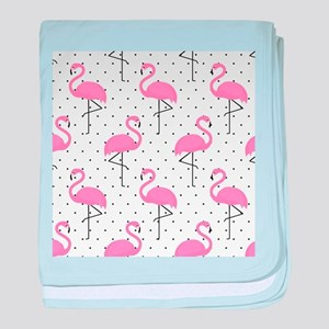 Cute Flamingo baby blanket