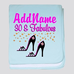 30TH HIGH HEEL baby blanket