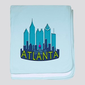 Atlanta Skyline Newwave Cool baby blanket
