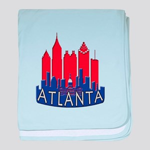 Atlanta Skyline Newwave Patriot baby blanket