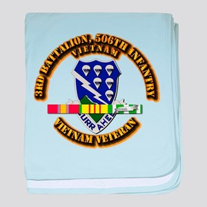 Army - 3rd Battalion, 506th Infantry baby blanket
