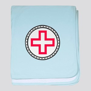 Circled Red Cross baby blanket