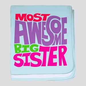 Awesome Big Sister baby blanket