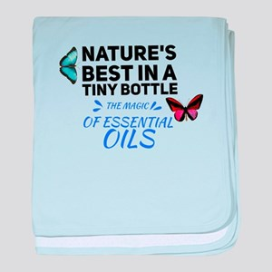 Nature's best in a Tiny Bot baby blanket