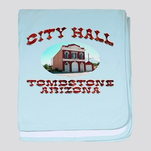 Tombstone City Hall baby blanket