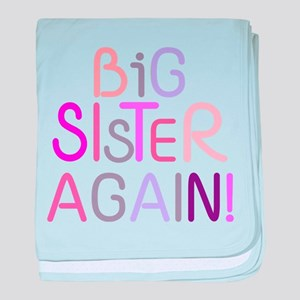 Big Sister Again baby blanket